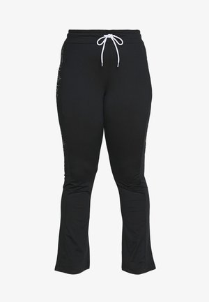 FIONA REGULAR CURVY - Tracksuit bottoms - black/white