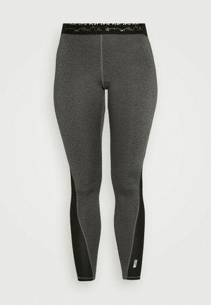ONPJYNX TRAINING - Leggings - dark grey melange/black/white gold