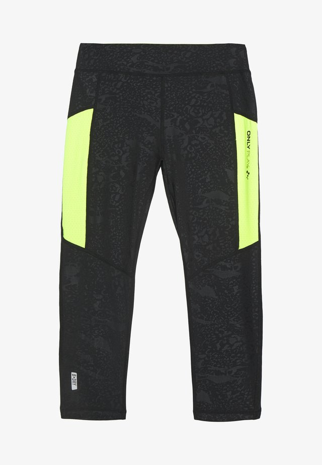 ONPANGILIA LIFE TRAINING - 3/4 sportbroek - black/safety yellow