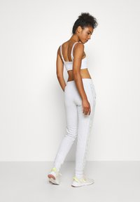 ONLY Play - ONPALYSSA PANTS - Joggebukse - white melange/saftey yellow - 2