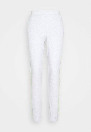 ONPALYSSA PANTS - Tracksuit bottoms - white melange/saftey yellow