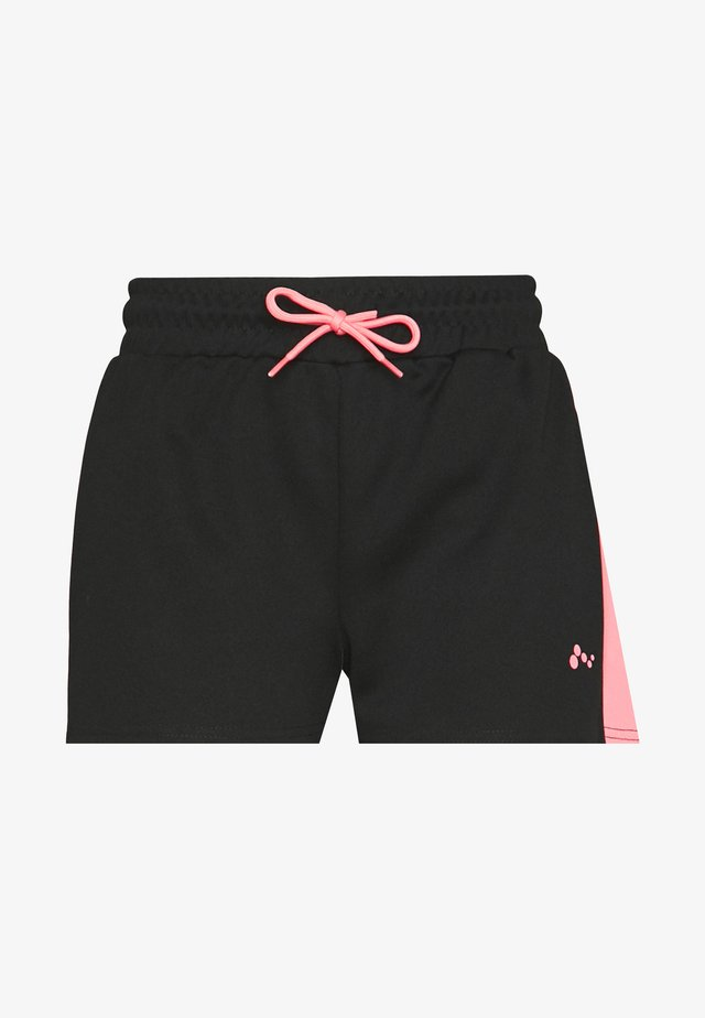 ONPALICE SHORTS - Korte broeken - black/strawberry pink