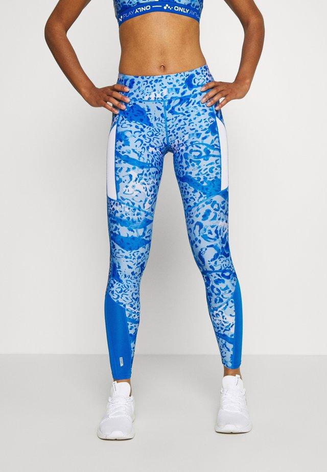 ONPANGILIA LIFE TRAINING - Leggings - imperial blue/white