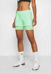 ONLY Play - ONPMADI LOOSE TRAINING SHORTS - Sports shorts - green ash - 0