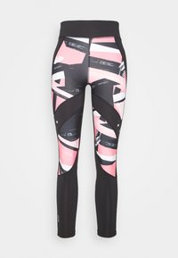 ONLY Play - ONPMINALIS TRAINING - Tights - black/strawberry pink - 3