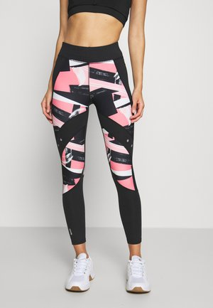 ONPMINALIS TRAINING - Leggings - black/strawberry pink