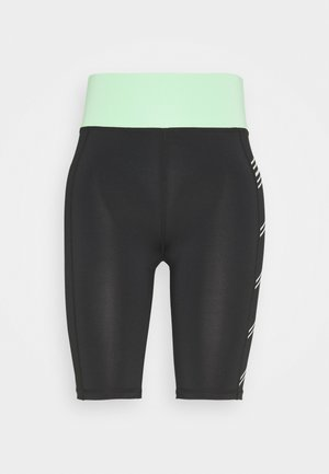ONPMANON TRAINING SHORTS - Sports shorts - black/green ash/white iridesce