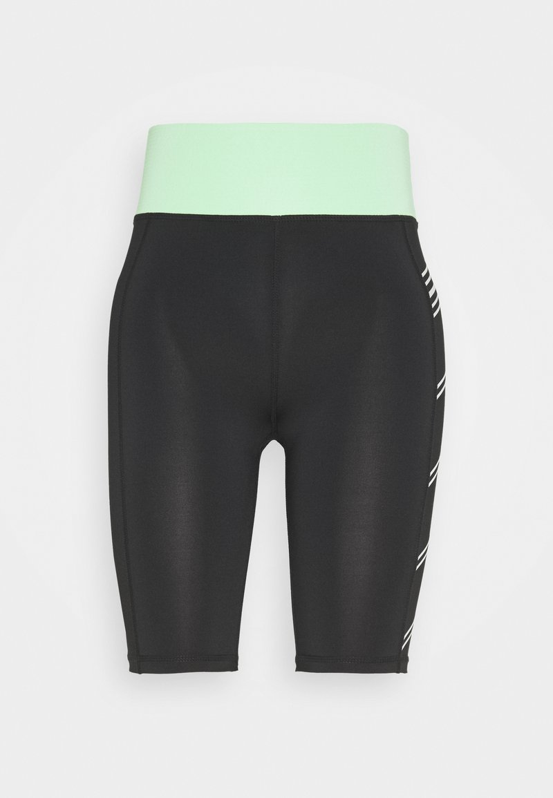 ONLY Play - ONPMANON TRAINING SHORTS - Sports shorts - black/green ash/white iridesce