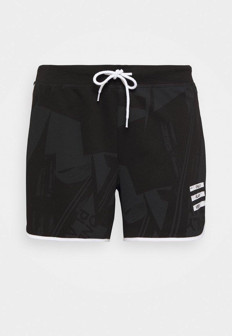 ONLY Play - ONPMAUREEN LIFE SHORTS  - Pantaloncini sportivi - black/white