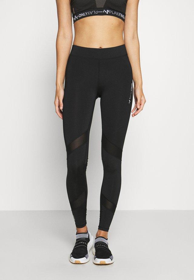 ONPAZZIE TRAINING - Leggings - black/black