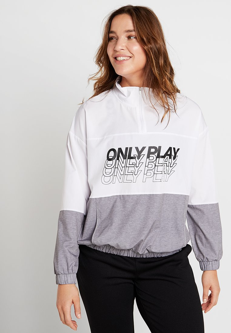 ONLY Play - ONPSUNSET HIGHNECK ANORAK  CURVY - Trainingsjacke - white