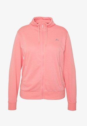 ONPELINA HIGH NECK CURVY OPUS - Hoodie met rits - pink