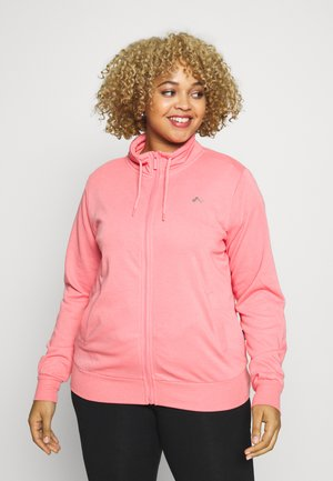 ONPELINA HIGH NECK CURVY OPUS - Mikina na zip - pink