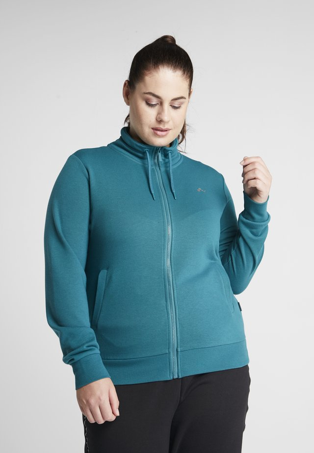 ONPELINA HIGH NECK CURVY OPUS - Zip-up hoodie - shaded spruce