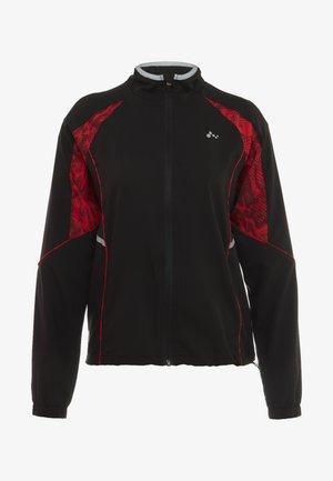 ONPSIERRA RUN JACKET - Veste de survêtement - black/flame scarlet