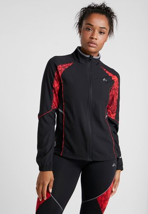 ONPSIERRA RUN JACKET - Training jacket - black/flame scarlet
