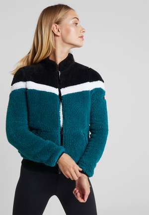 ONPFLUFFY COLORBLOCK JACKET - Giacca in pile - black/white