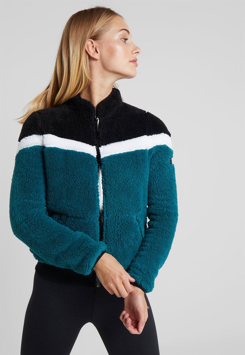 ONLY Play - ONPFLUFFY COLORBLOCK JACKET - Fleece jacket - black/white