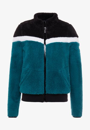 ONPFLUFFY COLORBLOCK JACKET - Fleecejas - black/white