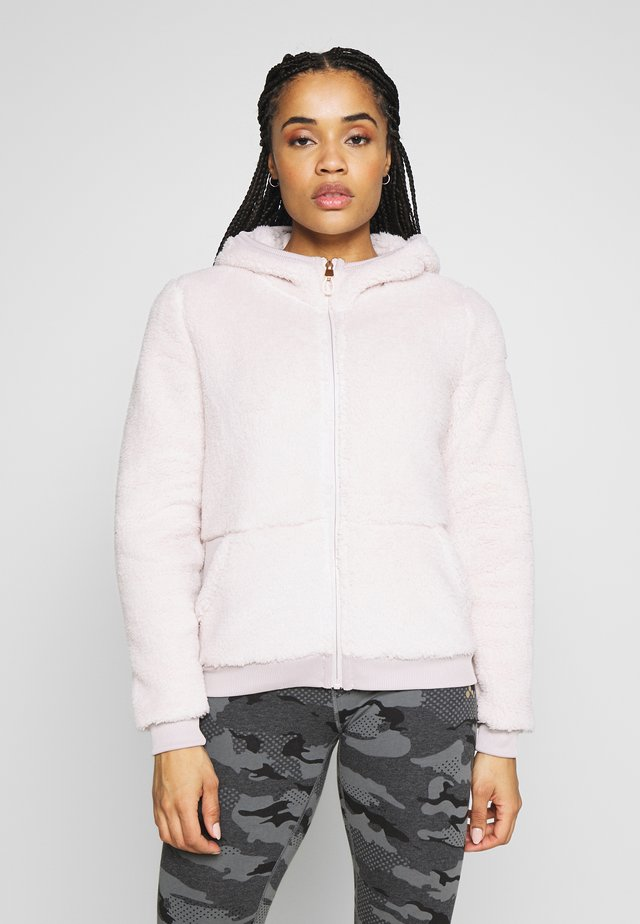 ONPFLUFFY ZIP HOOD JACKET - Giacca in pile - lilac ash
