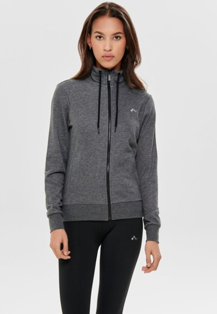 ONLY Play - ONPELINA  - Mikina na zip - dark grey melange