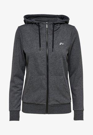 veste en sweat zippée - dark grey melange
