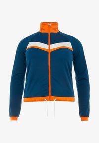 ONLY Play - ONPTANGERINE ZIP TRACK JACKET - Sportovní bunda - gibraltar sea/celosia orange - 3