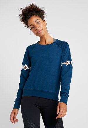 ONPTANGERINE LACE UP - Sweatshirt - gibraltar sea/white