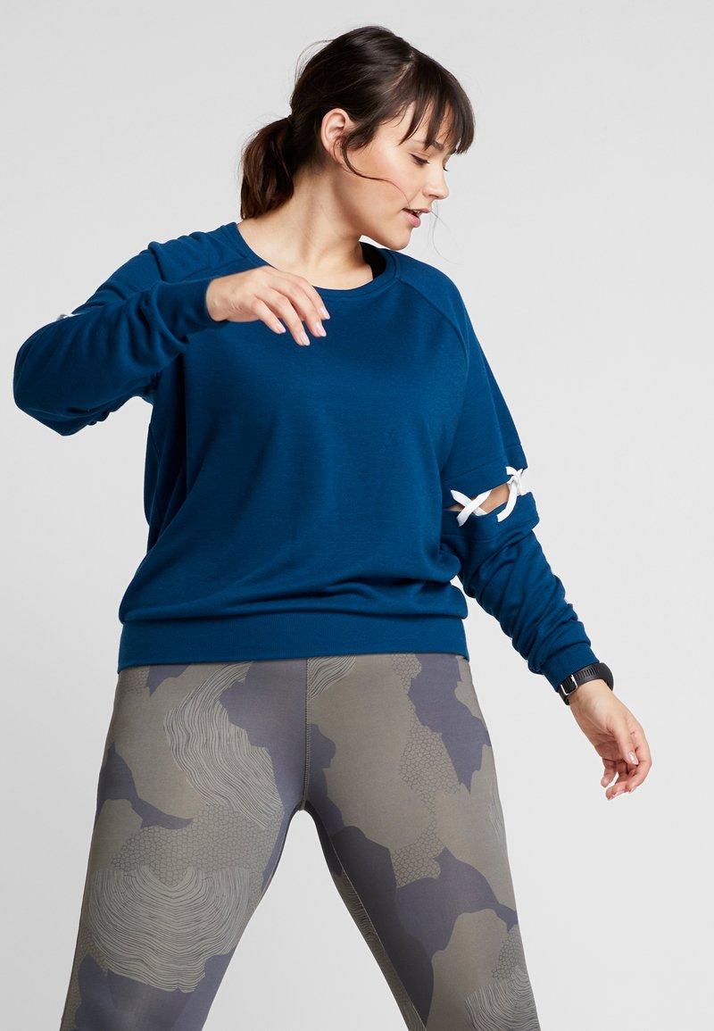 ONLY Play - ONPTANGERINE LACE UP  - Sweatshirt - gibraltar sea/white
