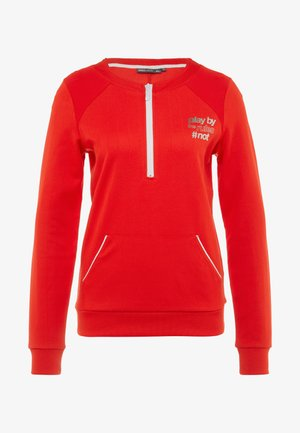 ONPJOANNA HALF ZIP - Sweatshirt - flame scarlet/white