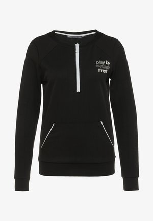 ONPJOANNA HALF ZIP - Sweatshirt - black/white