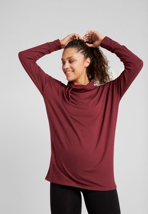 ONPTERRA  LONG HIGHNECK  - Sweatshirt - beet red/melange