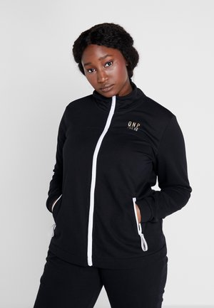 ONPNAHLA ZIP CURVY - veste en sweat zippée - black