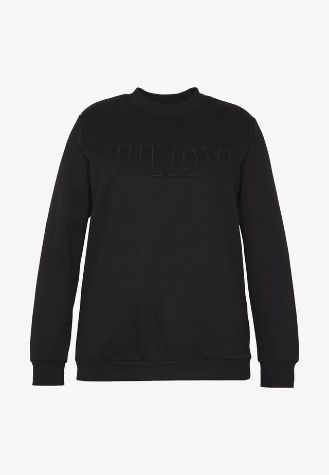 ONPDANI BRUSHED CURVY - Felpa - black