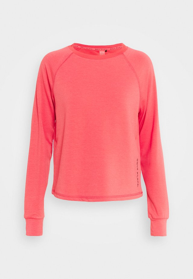 ONPPERFORMANCE CREW  - Sweatshirt - coral/black