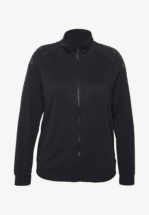 ONPFIONA HIGHNECK ZIP CURVY - Giacca sportiva - black/white