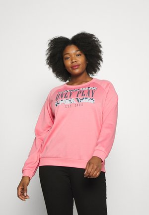 ONPMABELLE O NECK CURVY - Sudadera - strawberry pink