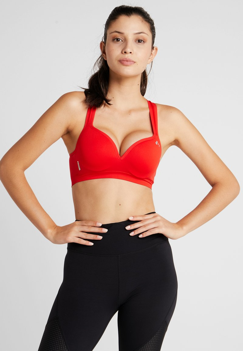 ONLY Play - ONPMARTINE SEAMLESS SPORTS  BRA - Sport BH - flame scarlet