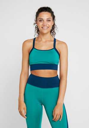 ONPTANGERINE COLORBLOCK MIDI BRA - Sports-bh'er - green lake/gibraltar sea