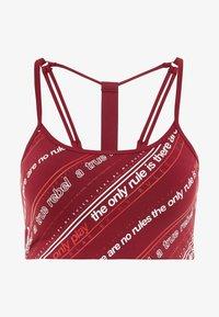 ONLY Play - ONPJENNIFER SPORTS BRA - Sports bra - beet red/white/flame scarlet - 4