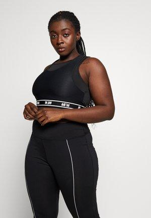 ONPDAI BRA CURVY - Sports bra - black/white