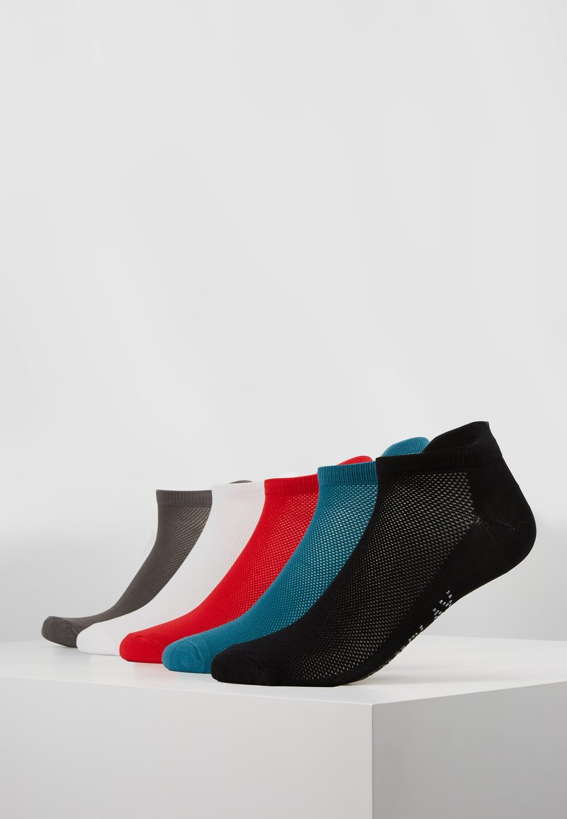 ONLY Play - ONPTRAINING SOCKS COLOR 5 PACK - Sportsocken - black/shaded spruce/flame scarlet