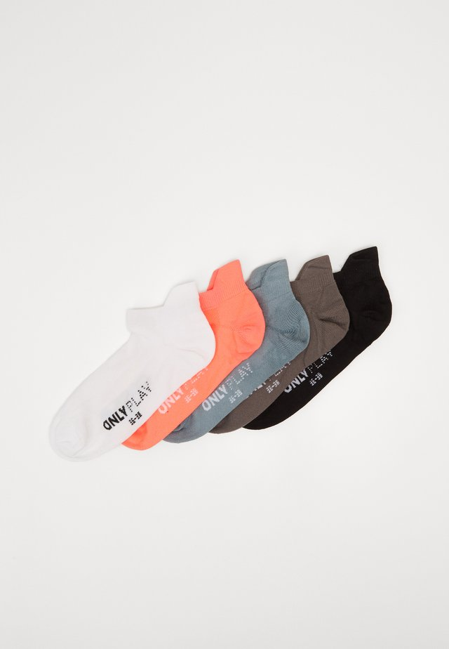 ONPTRAINING SOCKS COLOR 5 PACK - Sports socks - black/black/white/goblin blue