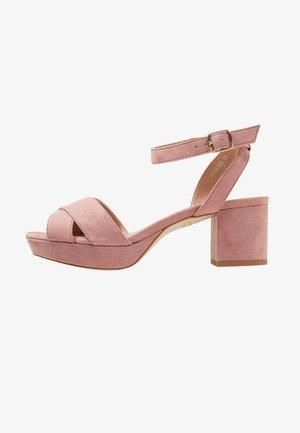 TULLY PLATFORM LEO SOCK - Sandales - light pink