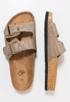 HELLO 2 BAND FOOTBED - Pantofle - rose gold
