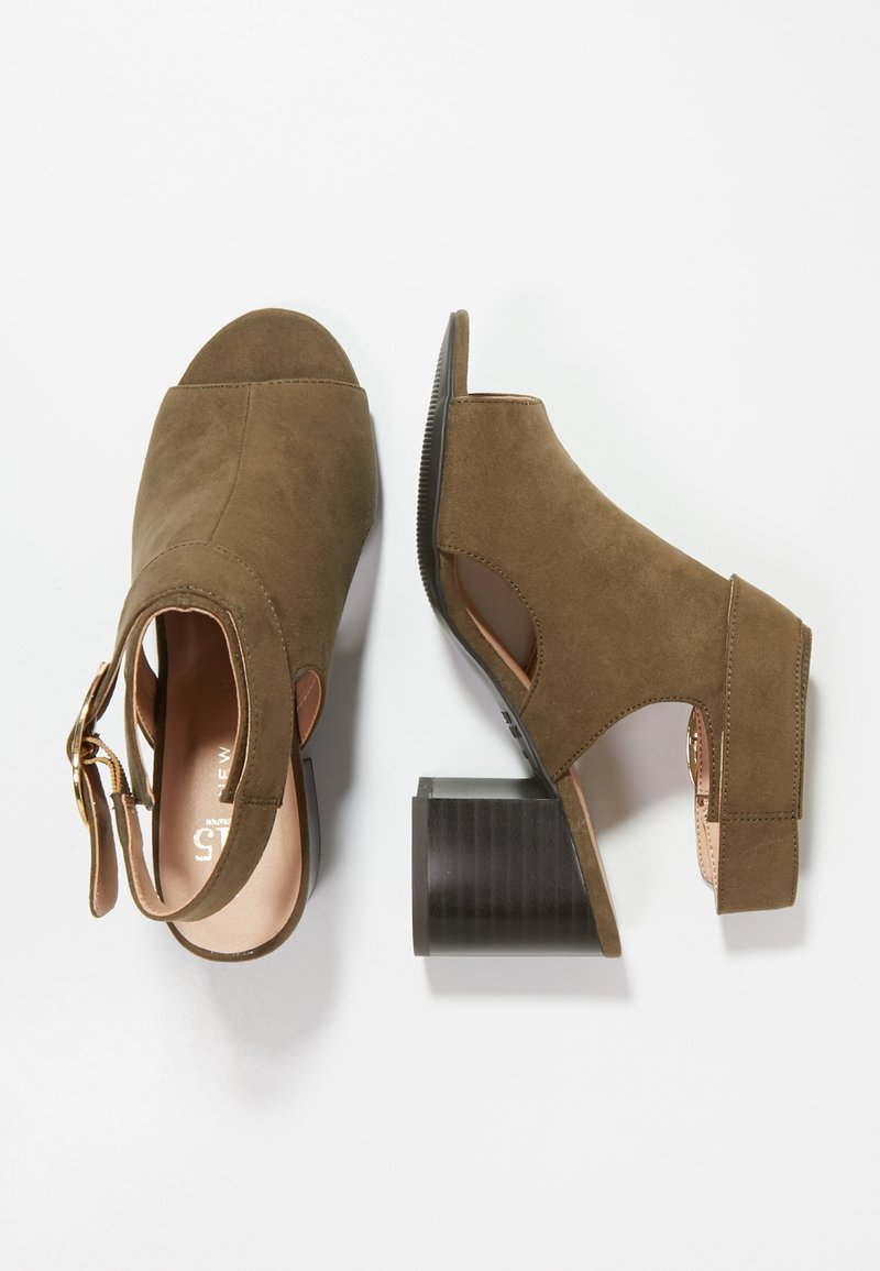 New Look 915 Generation - SUZIE CUT OUT HIGH VAMP - Sandales - dark khaki