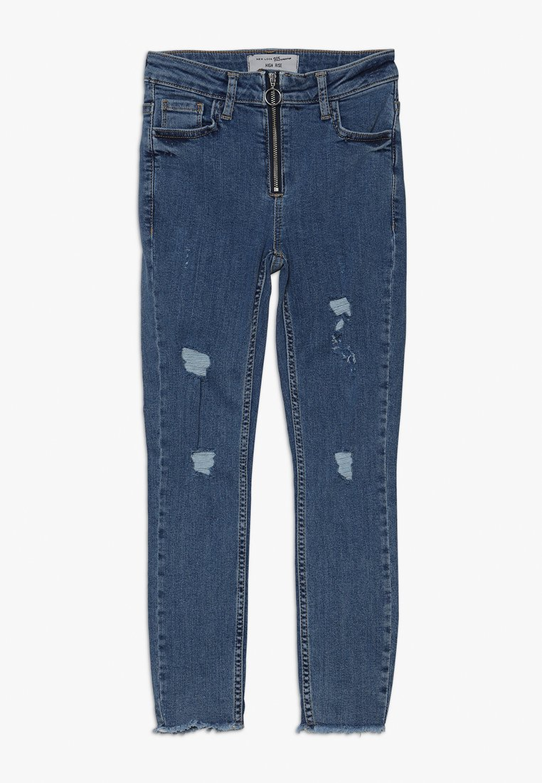 New Look 915 Generation - ZIP PULL SKINNY - Jeans Skinny Fit - mid blue