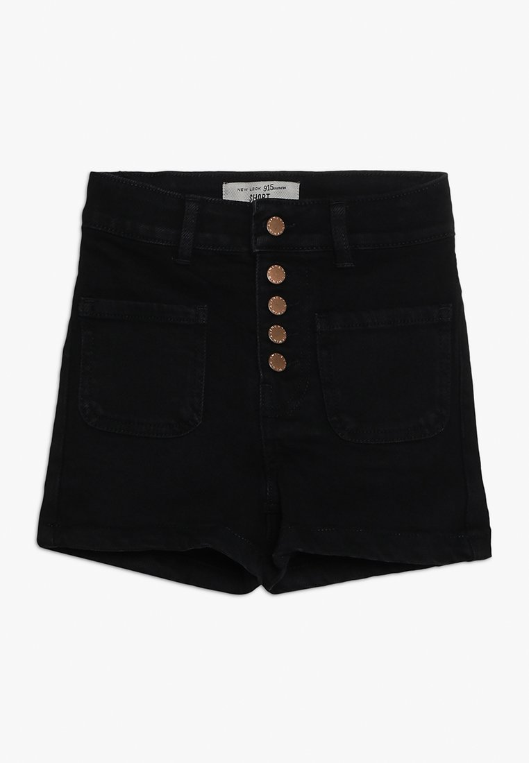 New Look 915 Generation - BEN PLACKET DENIM SHORT - Shorts vaqueros - black