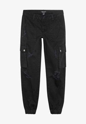 JACKIE RIPPED TROUSER - Cargohose - black