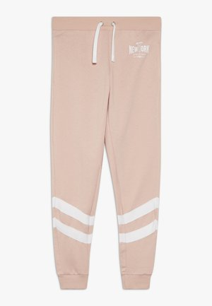 STRIPE LEG LOGO - Tracksuit bottoms - light pink